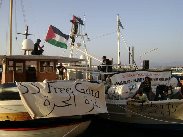 The Free Gaza & The Liberty, in Larnaca Port (August 2008)